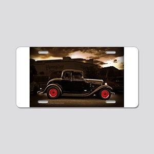 1932 black ford 5 window Aluminum License Plate