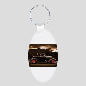 1932 black ford 5 window Keychains