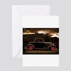1932 black ford 5 window Greeting Cards