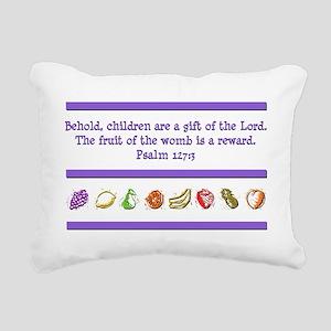 Psalm 127:3 Rectangular Canvas Pillow