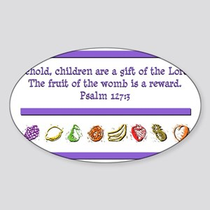 Psalm 127:3 Sticker (Oval)