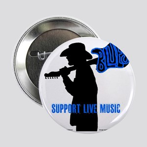 """Tom Sillouette with BLUES-Support Liv 2.25"""" Button"""