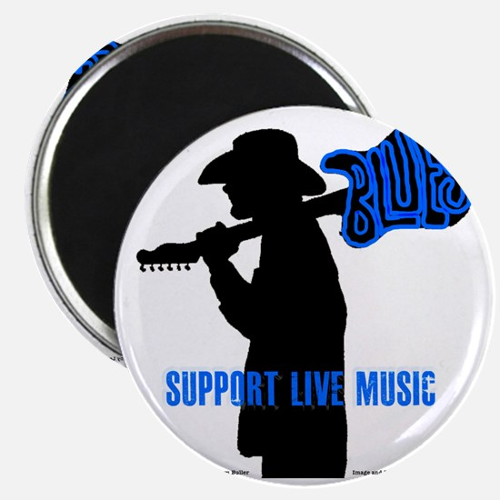 Tom Sillouette with BLUES-Support Live Musi Magnet
