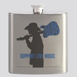 Tom Sillouette with BLUES-Support Live Music Flask