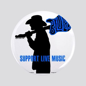"Tom Sillouette with BLUES-Support Live 3.5"" Button"