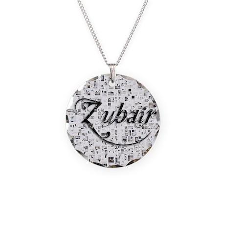 Zubair Matrix Abstract Art Necklace Circle Charm