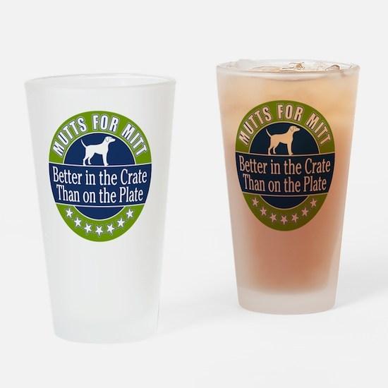 Mutts for Mitt Drinking Glass