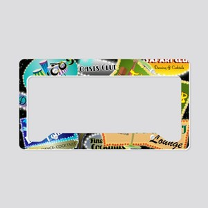 RETRO NIGHT CLUBS SHOULDER BA License Plate Holder
