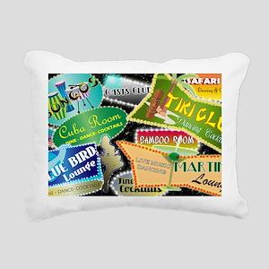 RETRO NIGHT CLUBS SHOULD Rectangular Canvas Pillow