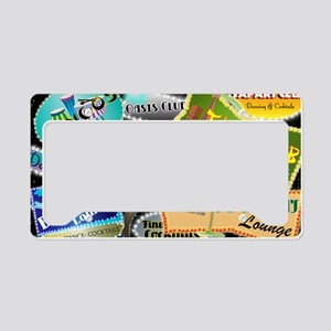 RETRO NIGHT CLUB NEON License Plate Holder