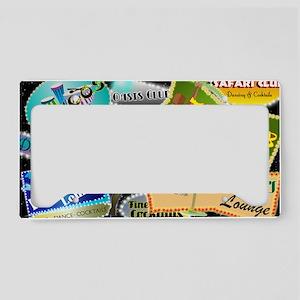 RETRO NIGHT CLUB NEON License Plate Holder