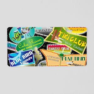RETRO NIGHT CLUB NEON Aluminum License Plate