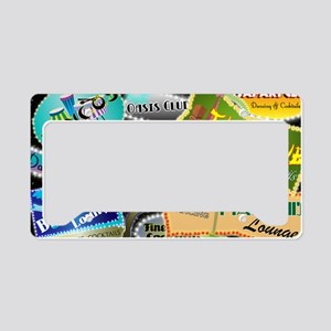 RETRO NIGHT CLUBS TOILETRY BA License Plate Holder