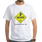 New Jersey State Flag White T-Shirt