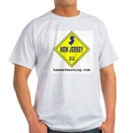 New Jersey State Flag Ash Grey T-Shirt