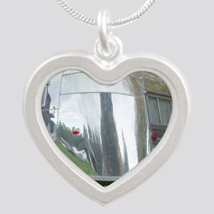1956, whale tail, dutchmans  Silver Heart Necklace
