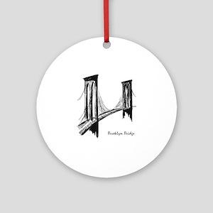 Brooklyn Bridge Round Ornament