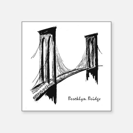 """Brooklyn Bridge Square Sticker 3"""" x 3"""""""