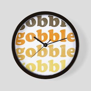 Thanksgiving Retro Wall Clock