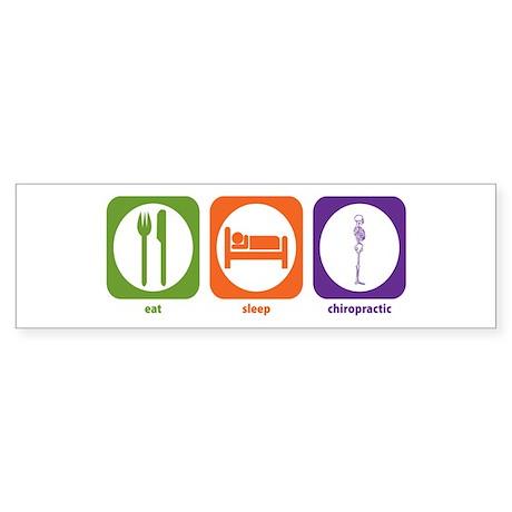 Eat Sleep Chiropractic Bumper Sticker