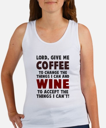 Coffee and Wine Women's Tank Top