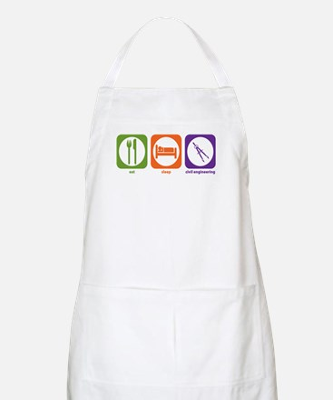 Eat Sleep Civil Engineering BBQ Apron