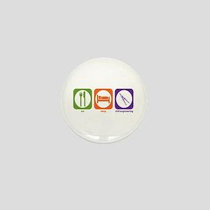 Eat Sleep Civil Engineering Mini Button