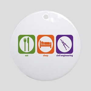 Eat Sleep Civil Engineering Ornament (Round)