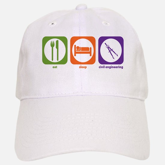 Eat Sleep Civil Engineering Baseball Baseball Cap