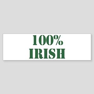 100% Irish Bumper Sticker