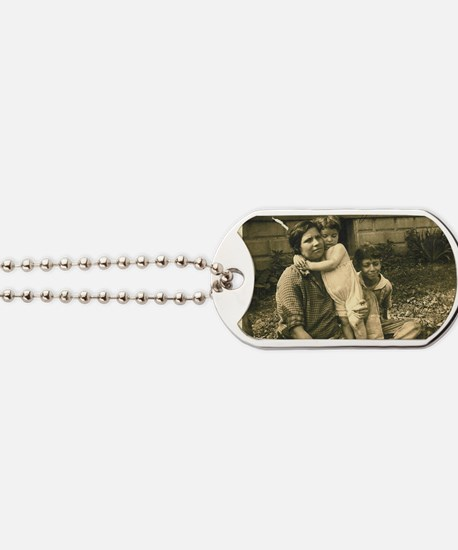 Becky, Lillian and Hy Dumes Dog Tags