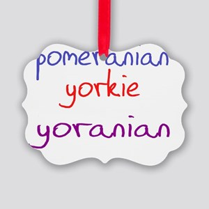 yoranian_black Picture Ornament