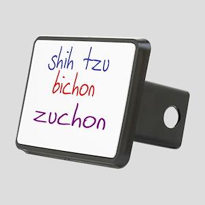 zuchon_black Rectangular Hitch Cover