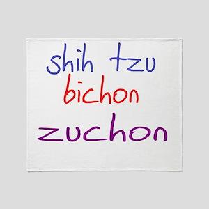 zuchon_black Throw Blanket