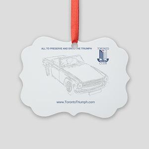 TR6 Shirt Transparent Picture Ornament
