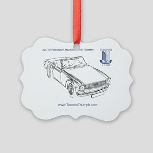 TR6 Shirt Picture Ornament