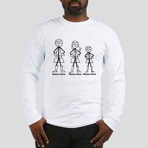 Personalized Super Family Long Sleeve T-Shirt