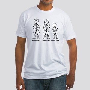 Personalized Super Family Fitted T-Shirt