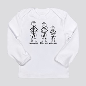 Personalized Super Family Long Sleeve Infant T-Shi