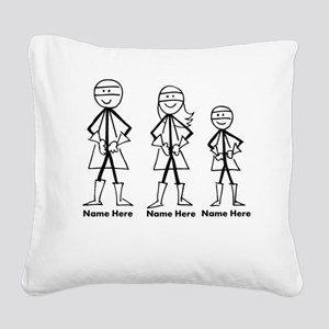 Personalized Super Family Square Canvas Pillow