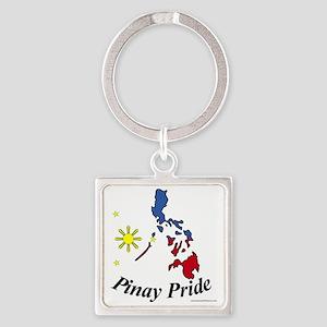 Pinay Pride Square Keychain