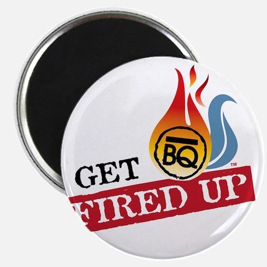 Get Fired Up Logo Magnet