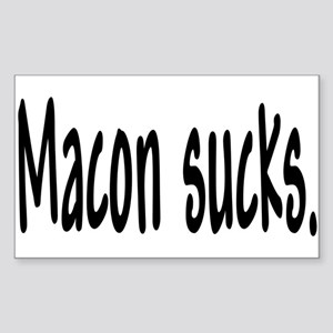 Macon sucks. Rectangle Sticker