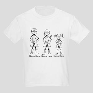 Personalized Super Family Kids Light T-Shirt
