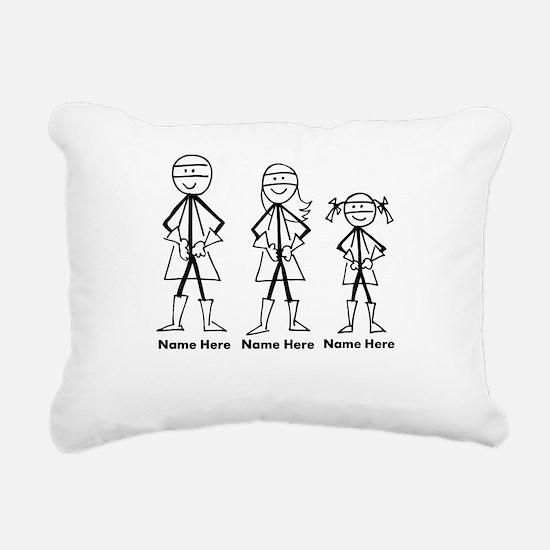 Personalized Super Family Rectangular Canvas Pillo