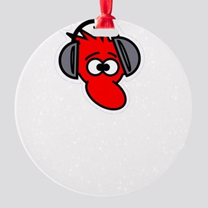 Headphone Farts White Round Ornament