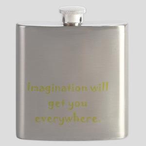 Imagination Everywhere White Flask
