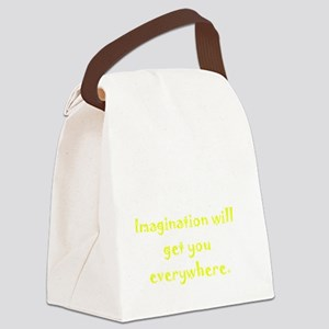 Imagination Everywhere White Canvas Lunch Bag