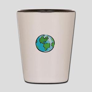 Save Earth Chocolate White Shot Glass