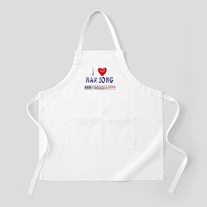 I LOVE MAH JONG BBQ Apron
